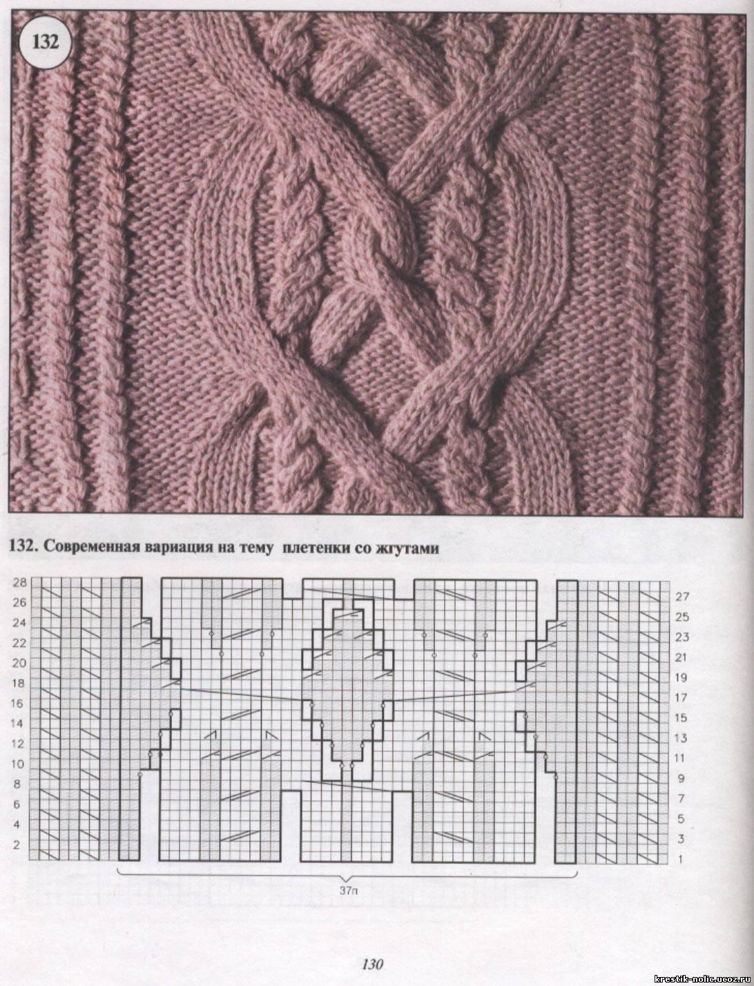 Вязание кос и жгутов и аранов